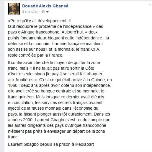 Mis en liberté provisoire, le Pr Hubert Oulaye encore plus combatif — CIV