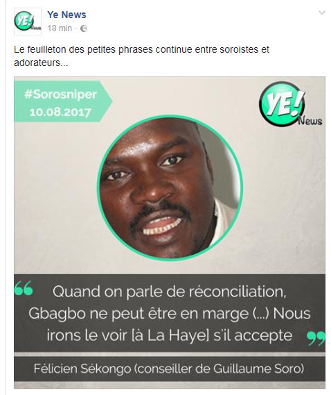 Les partisans de Guillaume Soro lancent une Amicale des FN — Côte d'Ivoire