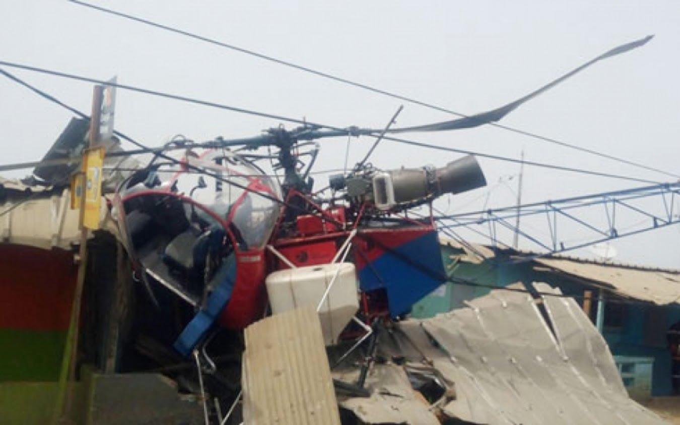 Quatre blessés dans le crash d'un hélicoptère à Abidjan — Côte d'Ivoire