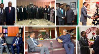 Le nouveau président de la CPI, le juge Chile Eboe-Osuji, recoit les honneurs du Nigeria