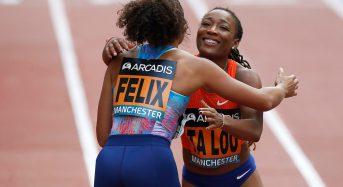 Ta Lou bat la multiple médaillée olympique Allyson Felix aux Manchester city games