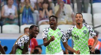 Russie 2018: Le Nigeria bat l'Islande 2-0 et prend une option sérieuse pour les 8e de finales