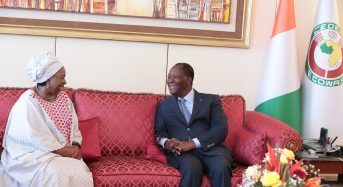 Ouattara profite de la visite de Nkosazana Dlamini-Zuma pour inviter Cyril Ramaphosa en Côte-d'Ivoire