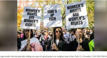 Des milliers de salariés de Google dans le monde entier protestent contre le harcèlement sexuel