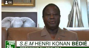Vidéo: «Les vrais Houphouetistes en Côte-d'Ivoire sont au PDCI-RDA, le parti cher à Félix Houphouët-Boigny» (Bédié)_