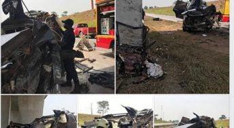 """Drame sur l'autoroute du nord : Deux morts et deux blessés graves """"incarcérés» (photos)"""