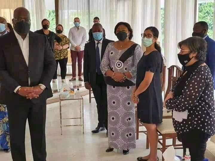 #RDC: Le couple Présidentiel chez la veuve de luca Attanasio Ambassadeur d'Italie tué le lundi 22 février 2021 dans le nord-kivu